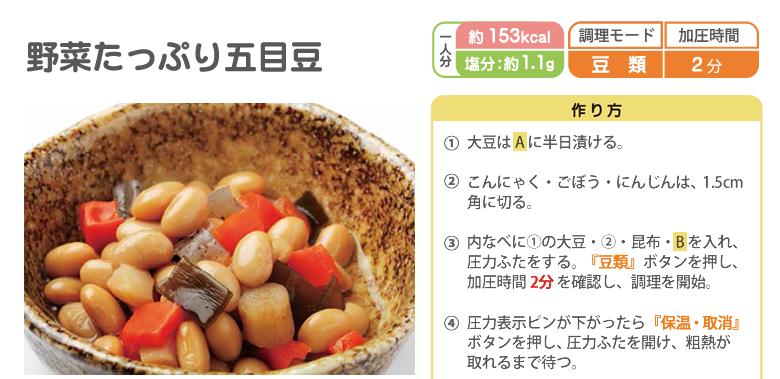 野菜たっぷり五目豆